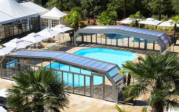 abris piscine angulaires