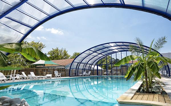 Abris piscine cintrés